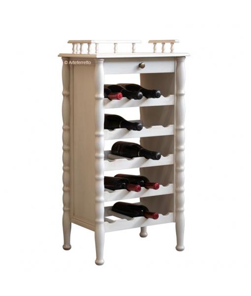 Wine furniture in lacquered wood. Sku er-846-av