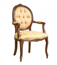 buttoned armchair, classic armchair, solid beech armchair, upholstered armchair, buttoned backrest armchair, classic furniture