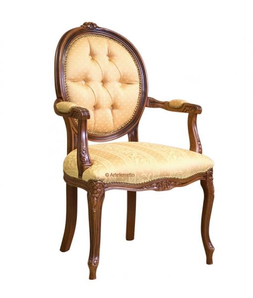 Buttoned armchair oval backrest. Sku gm-777