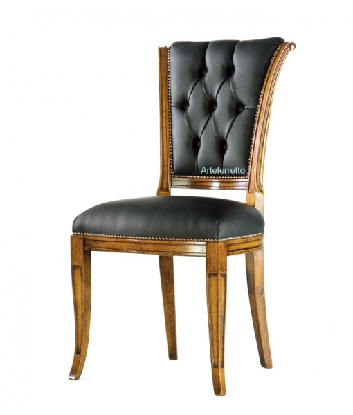 Upholstered wood chair. Sku ms-011