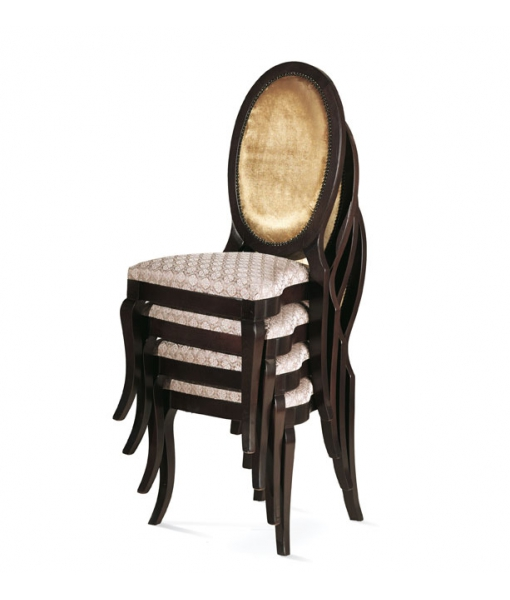 oval back chair, upholstered chair, wooden chair, oval chair
