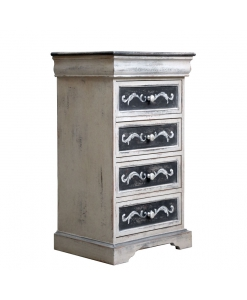 Distressed chest of drawers, wood chest of drawers, decorated dresser, Arteferretto furniture