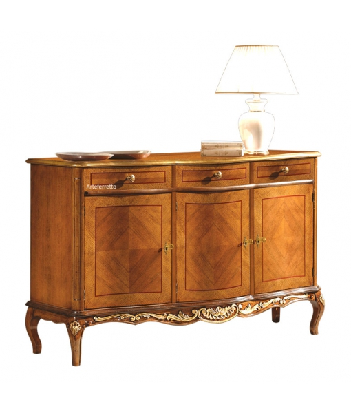 Shaped inlaid sideboard for dining room. Sku a216-vsp