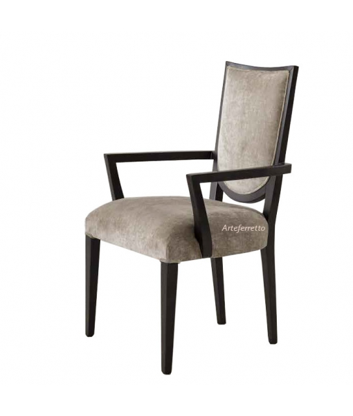 Arch design dining chair in wood. Great comfort. Italian design. Sku a57-msc