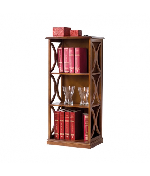 Small open shelving bookcase in wood. Sku b92-t