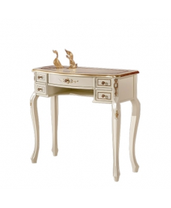 decorated console table, wooden console table, lacquered console table, side table for entryway, classic style furniture