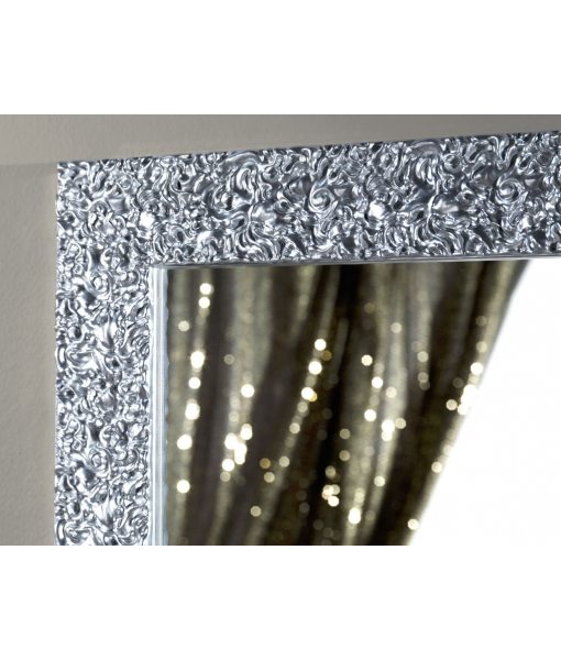 Shiny mirror, rectangular mirror, silver leaf mirror, modern design mirror,