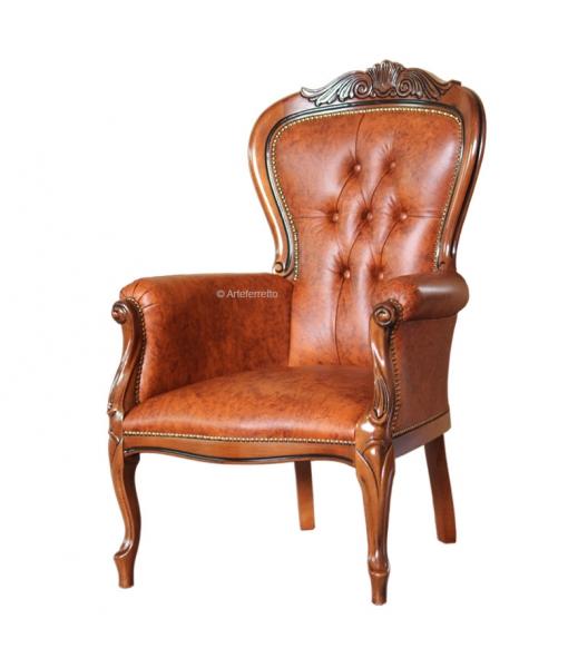 Luxury armchair genuine leather. Sku gm-445-lx