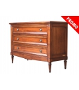 Dresser wide drawers in wood, wooden dresser, chest of 3 drawers, wooden furniture, classic style dresser,