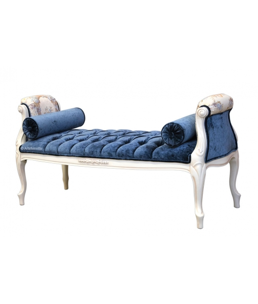 carved bedroom bench, wooden bench, wood bedroom bench, hallway bench, Italian design bench, handcrafted furniture