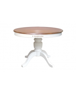 Two tone extendable dining table, roun dining table, round table, lacquered table, wood table, rounded table