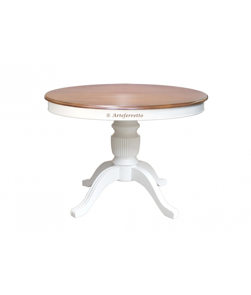 Two tone extendable dining table. Sku 1446-100-bic