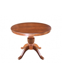extendable dining table, wooden table, rounded table, artisan table, dining table, classic style table