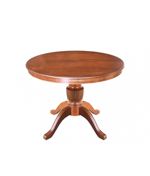 Extendable dining table, round shape. Sku 1446-100
