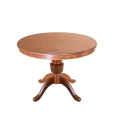extendable round table in wood, wooden dining table, rounded table, classic style table, central leg table, kitchen table, dining room table, classic style furniture, table in wood, stub collection