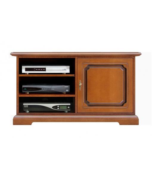 One door tv cabinet in wood, wooden unit, wooden cabinet, living room unit, tv stand, 1 door tv stand, Arteferretto furniture, Arteferretto tv cabinet
