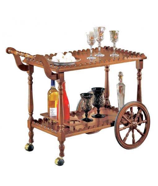 Wooden food trolley. Sku 902-t