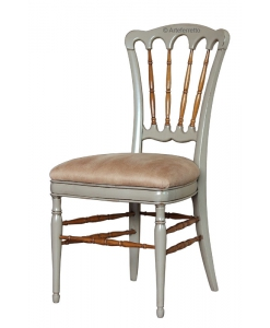 Two tone chair in beech wood, upholstered chair, dining chair, wooden chair, solid chair, padded chair,
