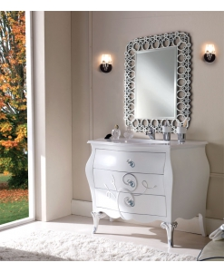 decorated bathroom vanity, sink unit, bathroom furniture, classic bathroom unit,