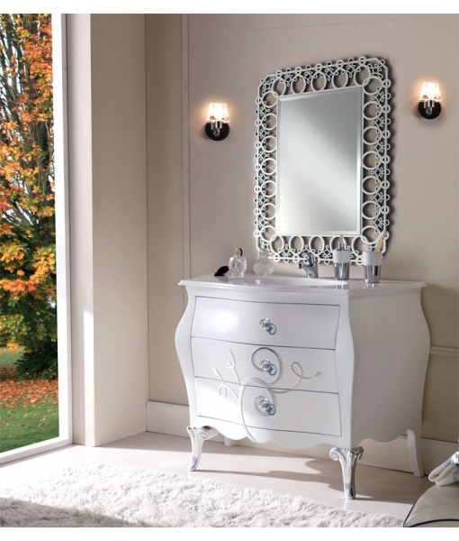Decorated bathroom vanity, sink unit. Sku ba-01-fs
