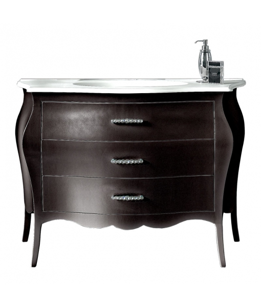 Lacquered bathroom chest of drawer. Sku E-a374-n