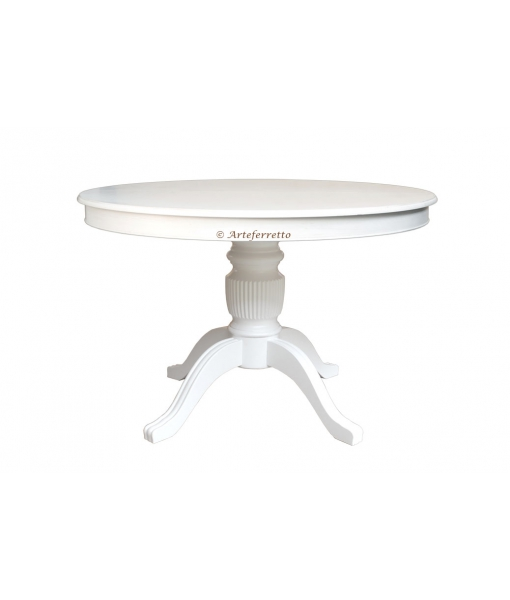 Extendable dining table, rounded shape for dining room. Sku 1446-110-BI