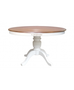 two tone extendable table in wood, wooden classic table, Stub collection, classic style table,rounded table, extendable dining table