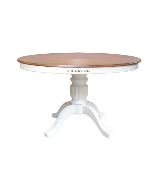 Two tone extendable table in wood. Sku 1446-120-bic