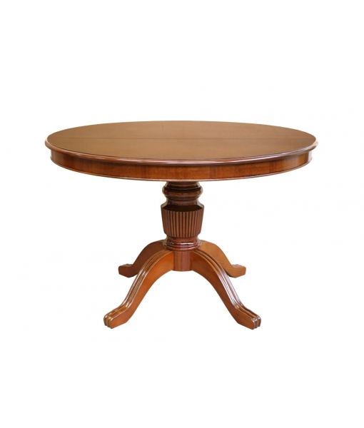 Extendable round table in wood 120-160 cm . Sku 1446-120