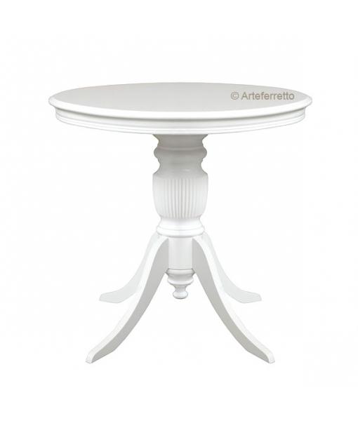 Small round table, living room table. Sku 270-av White colour