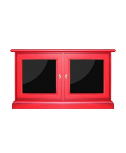 red sideboard 2 door, wooden sideboars, colored sideboard, wood cabinet, low cabinet, storage cabinet, red cabinet