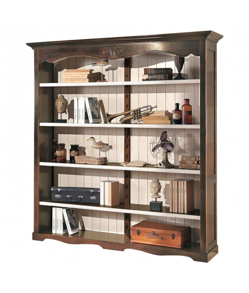 Large open shelving bookcase in wood. Sku 411-tar