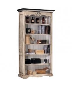 open shelving bookcase, wooden bookcase, bookshelf, classic style bookcase