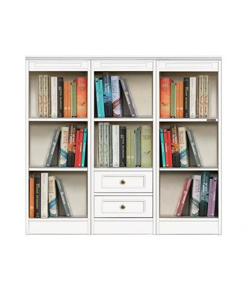 bookshelf in wood, 2 drawer bookcase, wooden bookcase, office bookcase, Arteferretto, modular bookcase, living room bookcase, low bookcase, low cabinet, living room cabinet,
