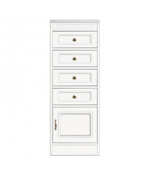 Storage cabinet with 1 door and 4 dra