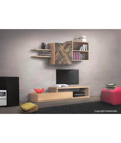 Modular living wall, room unit. Wooden furniture sku 16FR