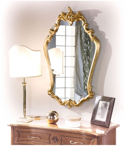 charming mirror, wooden frame, golden mirror, gold mirror, entryway mirror, wall mirror