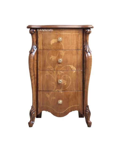 Inlaid chest of 4 drawers. Sku e404-v