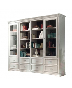 majestic wooden bookcase, wooden bookcase, living room bookcase, office furniture, contemporary style bookcase, Italian design bookcase,