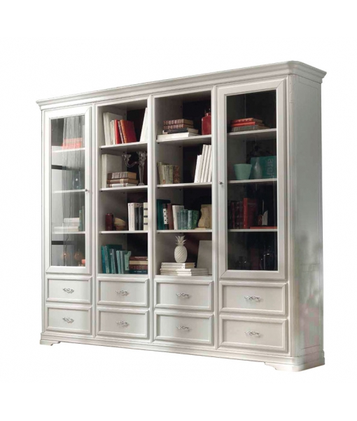 Majestic wooden bookcase for living room. Sku F11-T