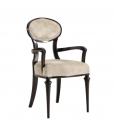 oval backrest armchair, wooden armchair, armchair in wood, upholstered armchair, dining armchair