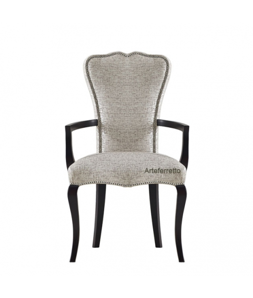Dining armchair structure in wood. Sku ms-c036