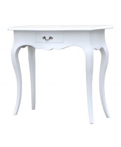 lacquered console table, entryway table, side table 1 drawer, wooden console table, white console table, white entryway table, Shaped console table