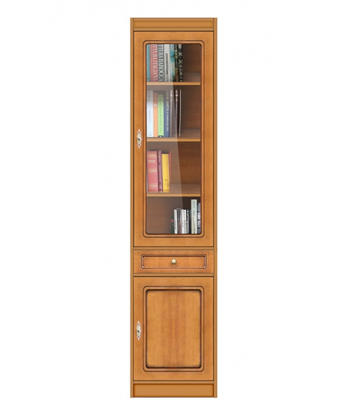 Multipurpose modular bookcase in wood. Sku ec-com-m3