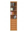 classic modular bookcase, living room bookcase, wooden bookcase, bookshelf with drawers, Arteferretto furniture, Arteferretto bookcase