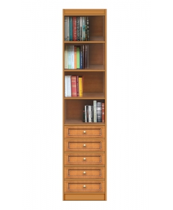 classic modular bookcase, living room bookcase, wooden bookcase, bookshelf with drawers, Arteferretto furniture, Arteferretto bookcase