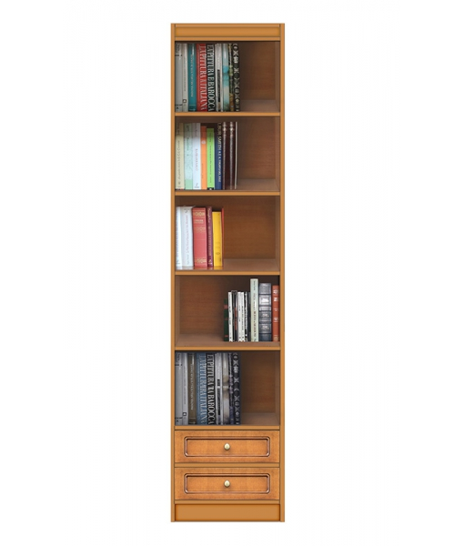 Modular bookcase 2 drawers, wooden bookcase. Sku EC-COM-M8