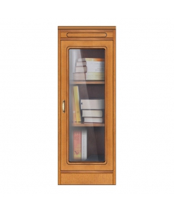 modular display cabinet with 2 shelves, display cabinet, Arteferretto furniture, Arteferretto display cabinet, wooden structure, glass door