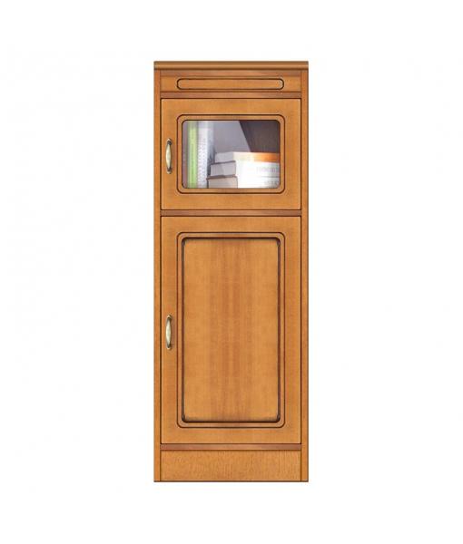 Narrow sideboard in wood with glass door. Sku CN-137