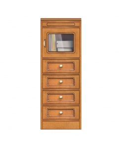 living room cabinet, wood cabinet, living room wood cabinet, glass door cabinet, Arteferretto cabinet, wooden unit, chest of drawers